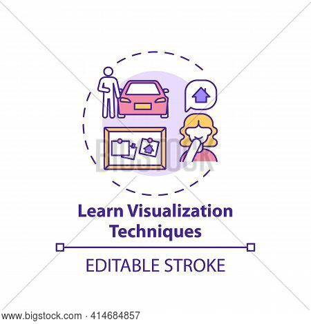 Learn Visualization Technique Concept Icon. Strategy For Motivation, Inspiration. Achieve Goal. Self