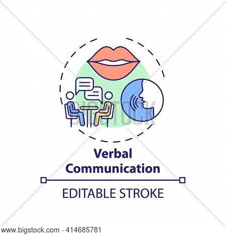 Verbal Communication Concept Icon. Conversational Skills. Form Relationships. Self Development Idea