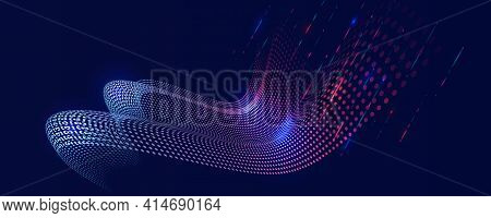 Cyber Security For Business And Internet Project. Abstract Futuristic Background. Hi-tech Business P