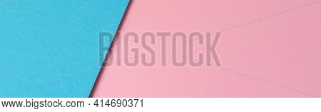 Abstract Color Papers Geometry Flat Lay Composition Background With Light Blue And Pastel Pink Color