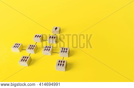 Diagram Of The Organizational Hierarchical System Of People In A Company Or Society. Business Person
