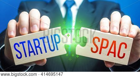 Man Connects Puzzles With Startup And Spac. Simplified Listing Entry To Stock Exchange. Special Purp