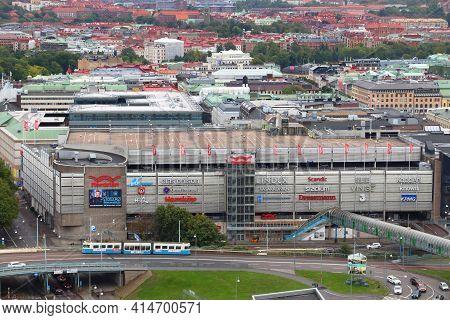 Gothenburg, Sweden - August 27, 2018: Nordstan Shopping Center In Gothenburg, Sweden. The Mall Is On