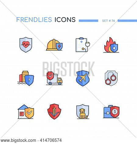 Insurance - Modern Line Design Style Icons Set