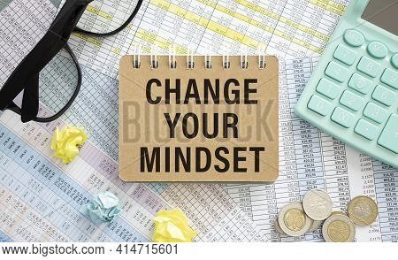 Reset Your Mindset Text On The Book Isolated On Table Background
