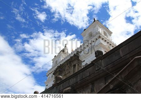 The Church Of St. Francis In Quito, Ecuador. High Quality Photo