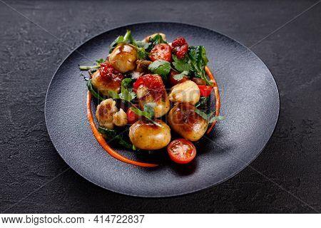 Grilled Vegetables Mix Garnish, Tasty Vegan Food