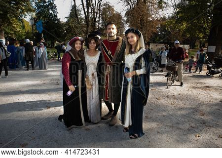Medieval Party Historic Town City Of Parma, Italy 2019