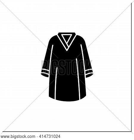 Graduation Dress Glyph Icon. Special Graduate Mantle. Holiday Costume. Graduate Uniform.graduation C