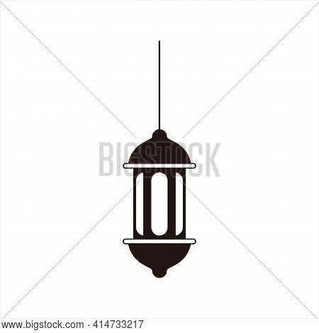 Lantern Icon Isolated On White Background, Thin Line Lantern Icon Outlines Linear Lantern Symbol For