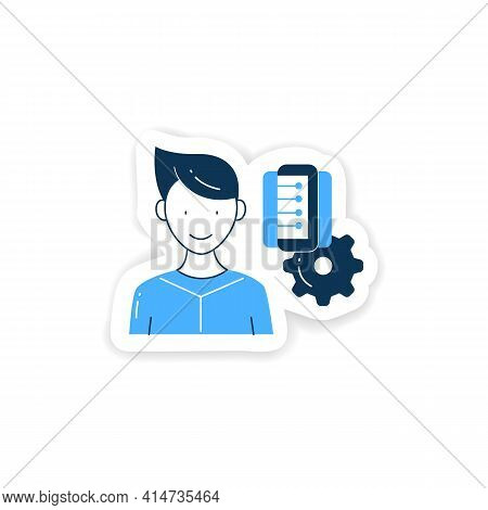 Information Management Sticker. Collect, Manage, Preserve, Store And Deliver Information Badge For D