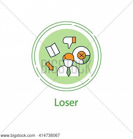 Election Loser Concpt Line Icon. Not Chosen Candidate, Applicant. Choice, Vote Concept. Democracy. P