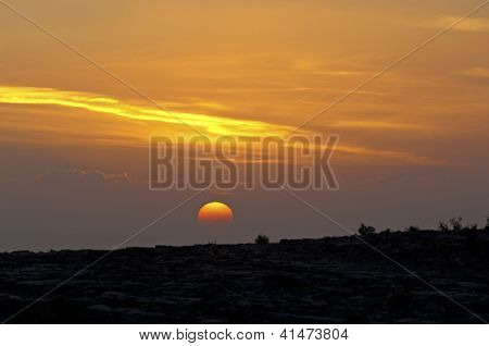 Sunset at the Sayq plateau