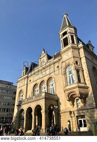 Luxembourg City, Luxembourg - August 27, 2019: Place Darmes In Old Town Buzzing With Tourists