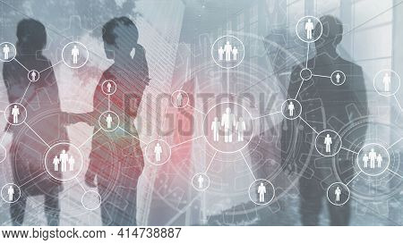 Hr Mixed Media. Human Resources Employment Teamwork Business Conference Concept