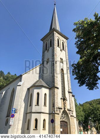 Luxembourg City, Luxembourg - August 30, 2019: Church Sainte Cunegonde In Luxembourg City