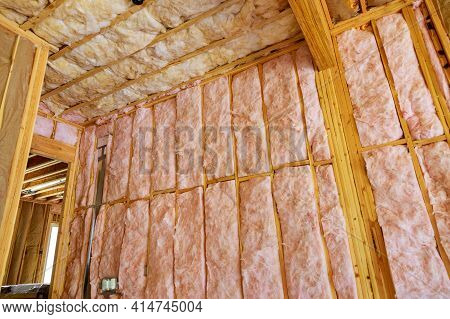 Mineral Wool Mineral Fiber Cotton Thermal Insulation Materials At House Construction Walls
