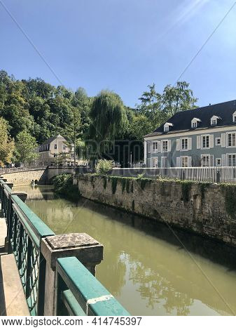 Luxembourg City, Luxembourg - August 30, 2019: View Of The Old Town And Grund