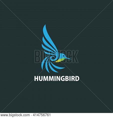 Humming Bird Logo Design Flat Simple And Modern