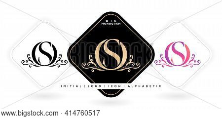 Os Initial Letter And Graphic Name, Os Monogram, For Wedding Couple Logo Monogram, Logo Company And