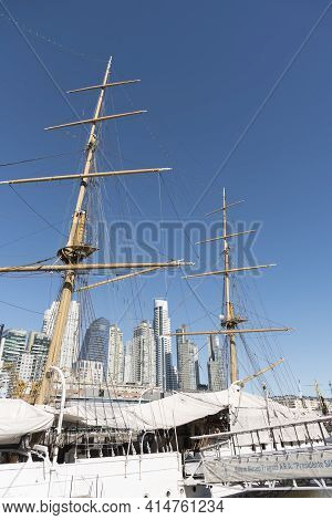 Buenos Aires, Argentina; Oct 31, 2019: Fragata Ara Presidente Sarmiento Museum Ship, In Puerto Mader