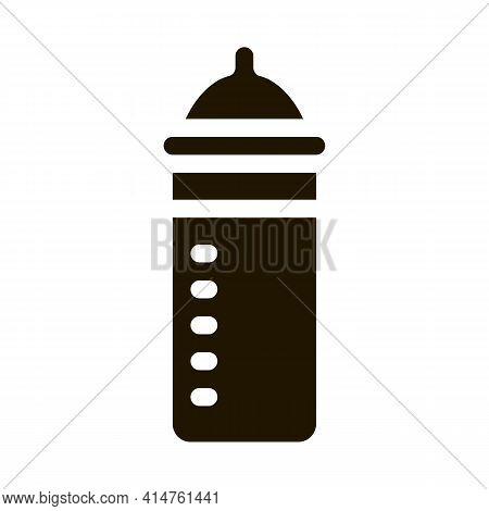 Feeding Bottle Glyph Icon Vector. Feeding Bottle Sign. Isolated Symbol Illustration