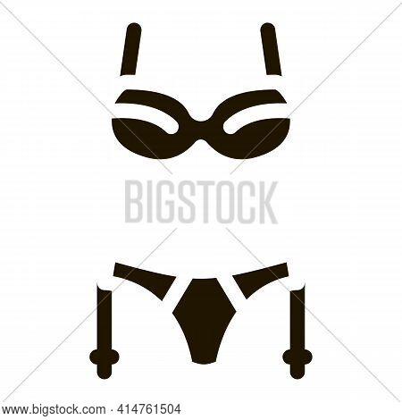 Sexy Underwear Glyph Icon Vector. Sexy Underwear Sign. Isolated Symbol Illustration