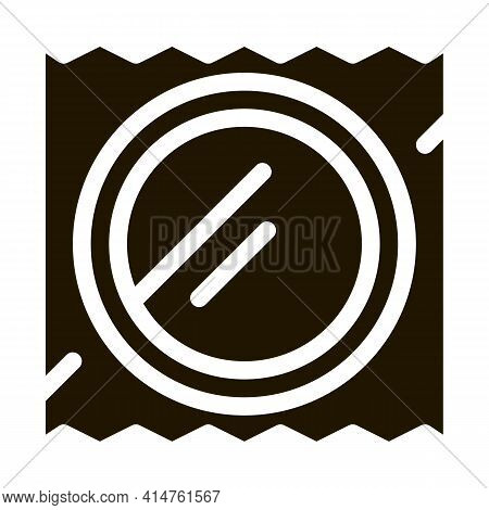 Condom Package Glyph Icon Vector. Condom Package Sign. Isolated Symbol Illustration