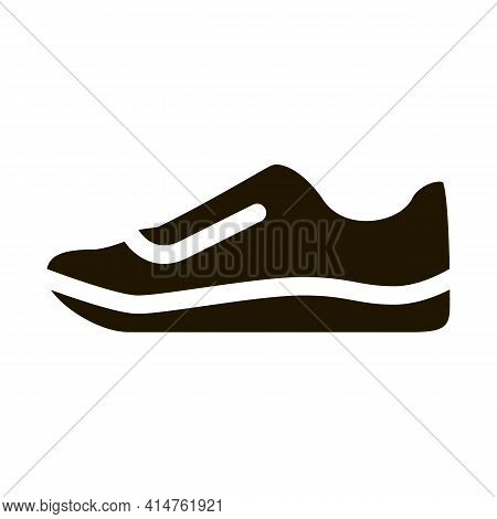 Sneaker Shoe Glyph Icon Vector. Sneaker Shoe Sign. Isolated Symbol Illustration