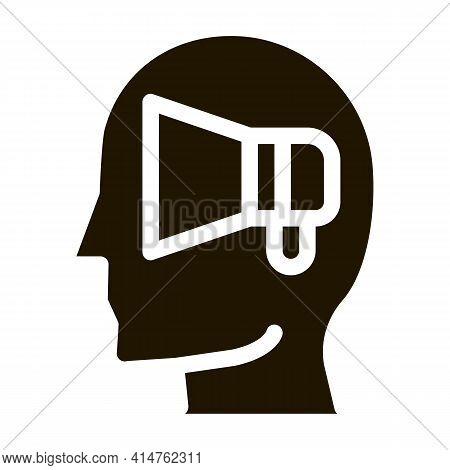 Loudspeaker Head Glyph Icon Vector. Loudspeaker Head Sign. Isolated Symbol Illustration