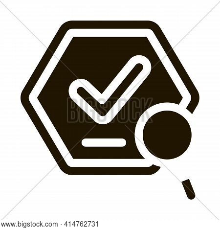 Check Mark Glyph Icon Vector. Check Mark Sign. Isolated Symbol Illustration