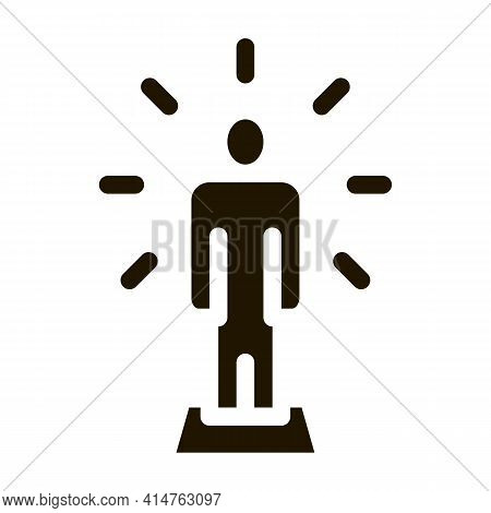 Human Sparkle Glyph Icon Vector. Human Sparkle Sign. Isolated Symbol Illustration