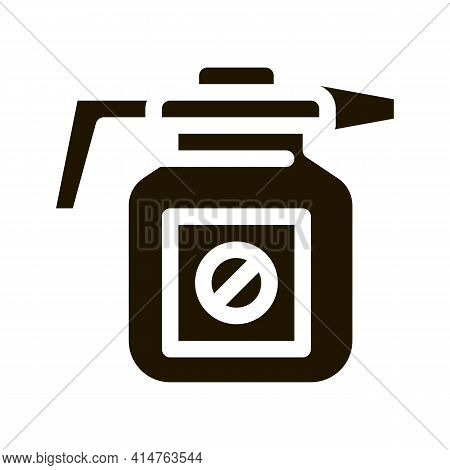 Atomizer Tool Glyph Icon Vector. Atomizer Tool Sign. Isolated Symbol Illustration