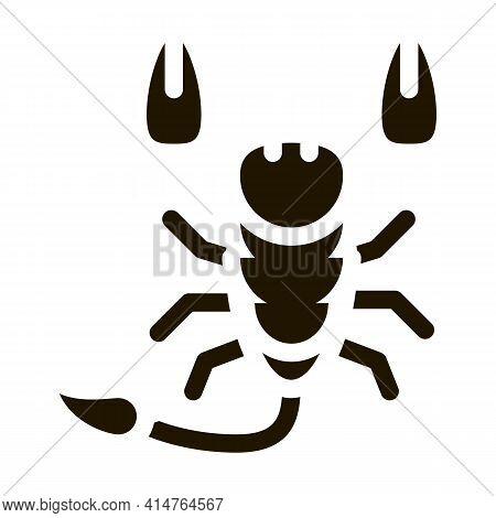 Scorpio Glyph Icon Vector. Scorpio Sign. Isolated Symbol Illustration