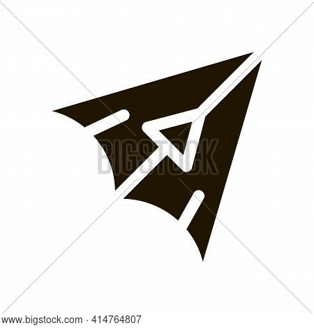 Hang Glider Glyph Icon Vector. Hang Glider Sign. Isolated Symbol Illustration