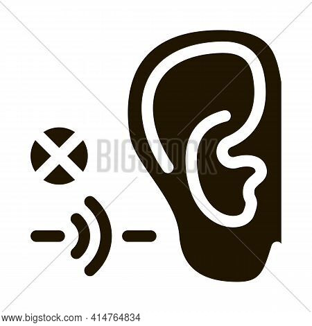 Hearing Impairment Glyph Icon Vector. Hearing Impairment Sign. Isolated Symbol Illustration