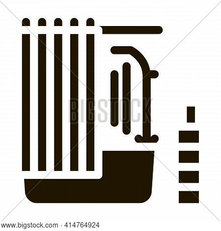 Bathroom Glyph Icon Vector. Bathroom Sign. Isolated Symbol Illustration