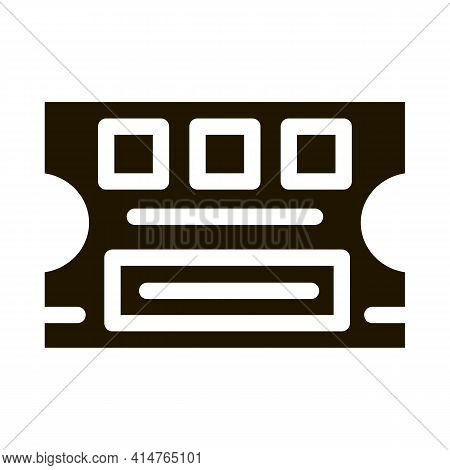 Lottery Ticket Glyph Icon Vector. Lottery Ticket Sign. Isolated Symbol Illustration