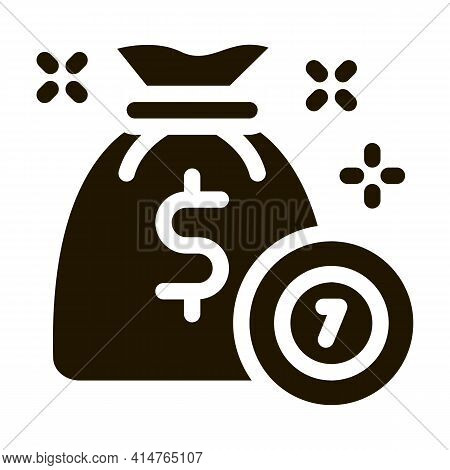 Winning Chips Glyph Icon Vector. Winning Chips Sign. Isolated Symbol Illustration