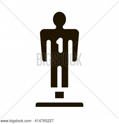 Player Figurine Glyph Icon Vector. Player Figurine Sign. Isolated Symbol Illustration