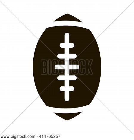 Rugby Ball Glyph Icon Vector. Rugby Ball Sign. Isolated Symbol Illustration