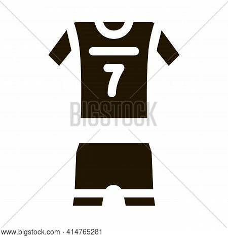 Volleyball Uniform Glyph Icon Vector. Volleyball Uniform Sign. Isolated Symbol Illustration