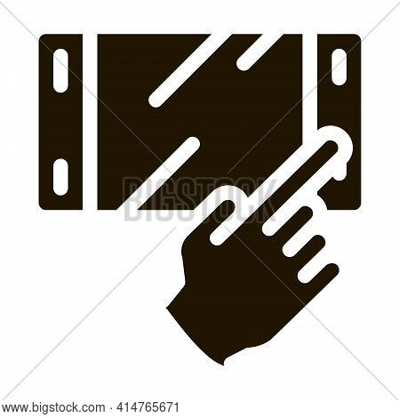 Game Console Glyph Icon Vector. Game Console Sign. Isolated Symbol Illustration