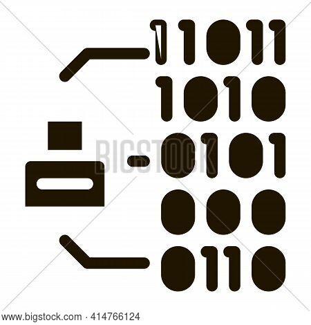 Binary Code Glyph Icon Vector. Binary Code Sign. Isolated Symbol Illustration