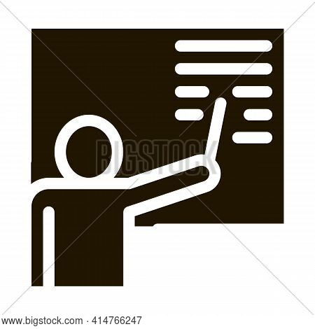 Technical Lesson Glyph Icon Vector. Technical Lesson Sign. Isolated Symbol Illustration
