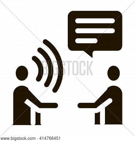 Speech Therapy Glyph Icon Vector. Speech Therapy Sign. Isolated Symbol Illustration