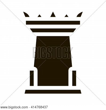 Thailand National Tower Icon Vector. Ancient Thailand Touristic Place Showplace Pictogram. Black And