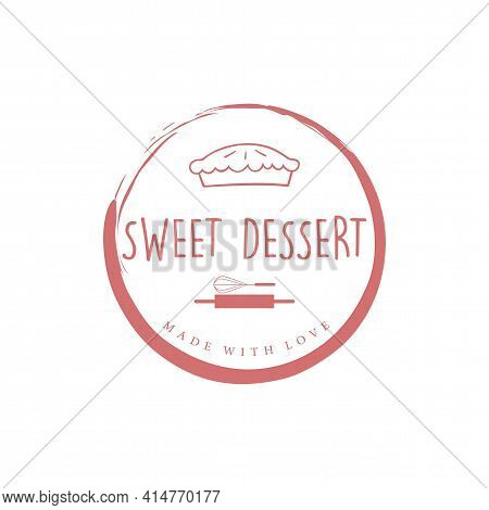 Bakery And Sweet Dessert Logo, Zen Dessert Logo, Simple Dessert Logo Vector
