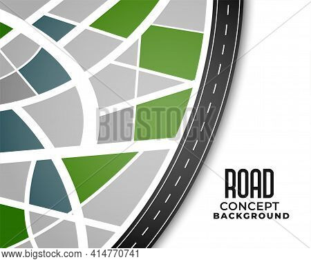 Journey Route Pathway Road Map Background Design