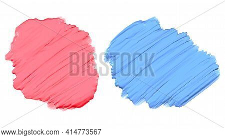 Soft Pink And Blue Thick Acrylic Watercolor Paint Texture